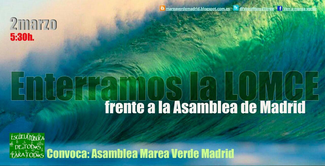 Marea Verde, manifestación