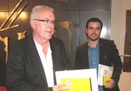 En la foto, Cayo Lara y Alberto Garzón