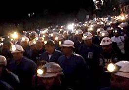 Manifestación de mineros